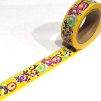 黄色 紅型マスキングテープ
