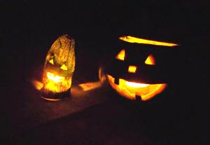 島かぼちゃのジャックオーランタン