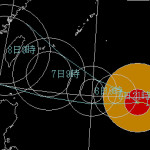 巨大台風13号が石垣島に接近予想 2015年8月の台風
