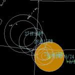 台風21号が石垣島に接近予想 2015年9月の台風